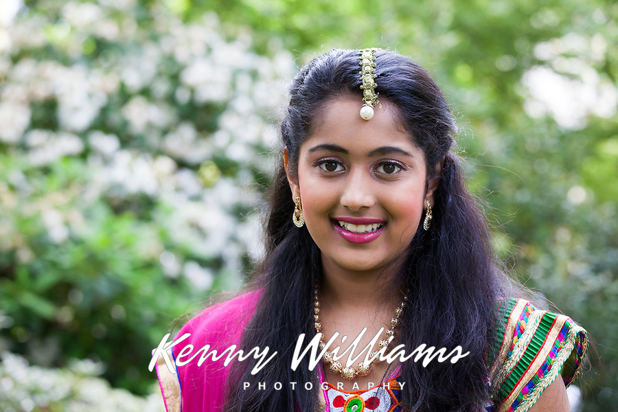 Indian Folk Dancer Girl, NW Folklife Festival, Seattle, WA, USA.