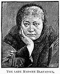 HELENA PETROVNA BLAVATSKY /n(1831-1891). Russian traveller and theosophist. Wood engraving, 19th century.
