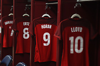 New Orleans, LA - Thursday October 19, 2017: USWNT locker room during an International friendly match between the Women's National teams of the United States (USA) and South Korea (KOR) at Mercedes Benz Superdome.