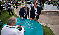 DEL MAR, CA - NOVEMBER 03: Spectators play blackjack before the races on Day 1 of the 2017 Breeders' Cup World Championships at Del Mar Racing Club on November 3, 2017 in Del Mar, California. (Photo by Scott Serio/Eclipse Sportswire/Breeders Cup)