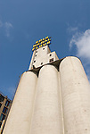 Minnesota, Twin Cities, Minneapolis-Saint Paul: Mill City Museum, showing flour milling history in Minneapolis.  Grain elevators are part of the museum..Photo mnqual258-74903..Photo copyright Lee Foster, www.fostertravel.com, 510-549-2202, lee@fostertravel.com.