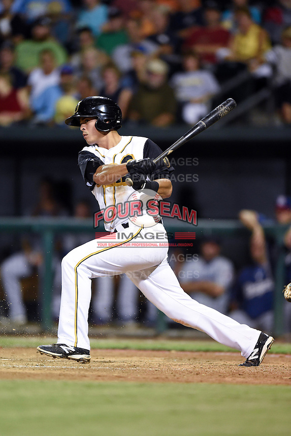 Jacksonville Suns shortstop Terrence Dayleg (29) at bat during game three of the Southern League Championship Series against the Chattanooga Lookouts on September 12, 2014 at Bragan Field in Jacksonville, Florida.  Jacksonville defeated Chattanooga 6-1 to sweep three games to none.  (Mike Janes/Four Seam Images)