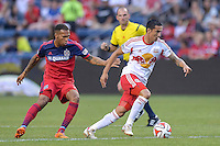 Bridgeview, IL. - August 10, 2014: The Chicago Fire defeated the New York Red Bulls by the score of 1-0 in a Major League Soccer (MLS) match at Toyota Park.
