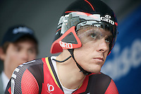 Tour of Belgium 2013.stage 3: iTT..Philippe Gilbert (BEL) focused on the start podium.