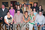 Johnny O'Sullivan Keel seated second from left celebrates his 50th birthday with friends and family in the Anvil Bar Boolteens on Saturday night.    Copyright Kerry's Eye 2008