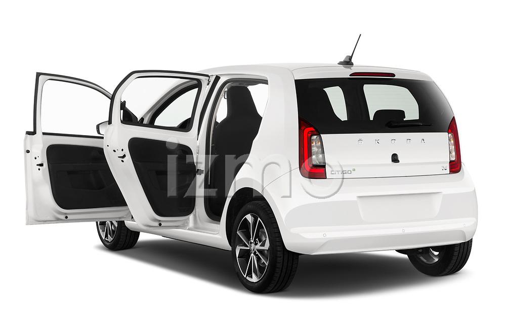 Car images close up view of a 2020 Skoda Citigo e iV Ambition 5 Door Hatchback doors