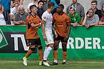 12.07.2017, Sportplatz, Zell am Ziller, AUT, TL Werder Bremen 2017 - FSP Werder Bremen (GER) vs Wolverhampton Wanderers (ENG), <br /> <br /> im Bild<br /> Bright Enobakhare (Wolverhampton Wanderers #3)<br /> Robert Bauer (Werder Bremen #4)<br /> Ivan CAVALEIRO (Wolverhampton Wanderers #50)<br /> <br /> Foto &copy; nordphoto / Kokenge