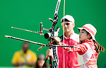 Kaori Kawanaka (JPN),<br /> AUGUST 9, 2016 - Archery :<br /> Women's Individual 1/32 Eliminations at Sambodromo during the Rio 2016 Olympic Games in Rio de Janeiro, Brazil. (Photo by Enrico Calderoni/AFLO SPORT)