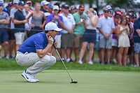 Rory McIlroy (NIR) lines up his putt on 1 during 4th round of the World Golf Championships - Bridgestone Invitational, at the Firestone Country Club, Akron, Ohio. 8/5/2018.<br /> Picture: Golffile | Ken Murray<br /> <br /> <br /> All photo usage must carry mandatory copyright credit (© Golffile | Ken Murray)