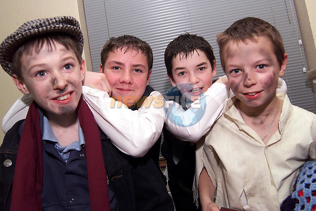 Andrew Mooney, Aaron Matthews, Ricky McNulty and Martin Clarkin who took part in Stamullen National School's Christmas concert..Picture: Paul Mohan/Newsfile