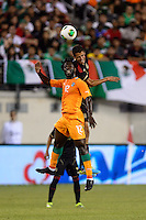 Ivory Coast forward Wilfried Bony (12). Mexico defeated the Ivory Coast 4-1 during an international friendly at MetLife Stadium in East Rutherford, NJ, on August 14, 2013.