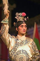 Male star in full costume at Chinese Opera - Chengdu, China in Sichuan Province