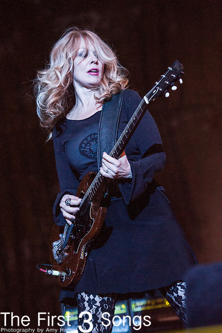Nancy Wilson of Heart performs at the 2nd Annual BottleRock Napa Festival at Napa Valley Expo in Napa, California.