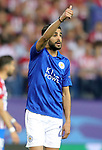 Leicester City FC's Riyad Mahrez during Champions League 2016/2017 Quarter-finals 1st leg match. April 12,2017. (ALTERPHOTOS/Acero)