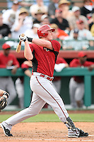 Marc Krauss #66 of the Arizona Diamondbacks bats against the San Francisco Giants in the first spring training game of the season at Scottsdale Stadium on February 25, 2011  in Scottsdale, Arizona. .Photo by:  Bill Mitchell/Four Seam Images.