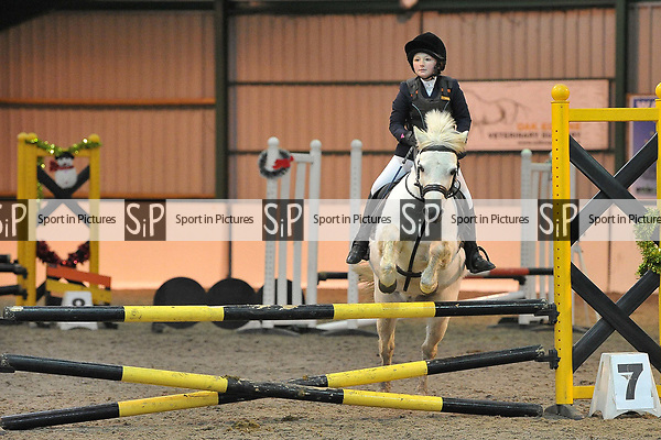 Class 6. Unaffiliated showjumping extravaganza. Brook Farm Training Centre. Essex. UK. 30/12/2018. ~ MANDATORY Credit Garry Bowden/Sportinpictures - NO UNAUTHORISED USE - 07837 394578
