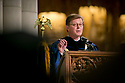 President Vincent Price speaks during his first Baccalaureate Service at Duke Chapel.