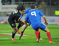 Ma'a Nonu in action during the international rugby match between the New Zealand All Blacks and France at Yarrow Stadium, New Plymouth, New Zealand on Saturday, 21 June 2013. Photo: Dave Lintott / lintottphoto.co.nz
