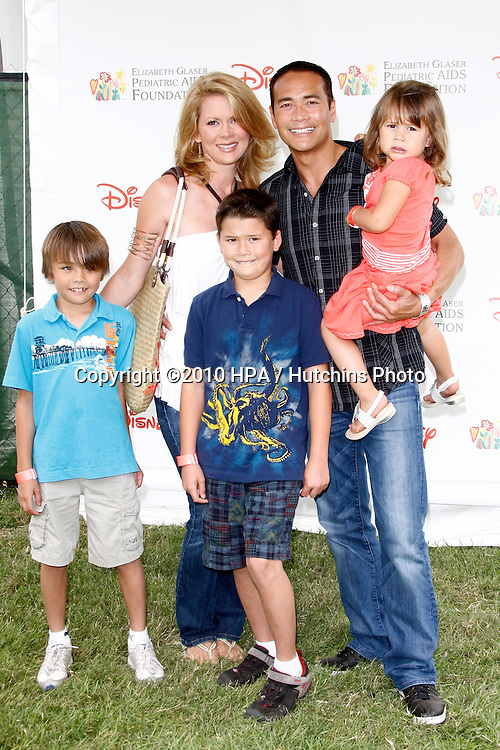 Mark Dacascos & Julie Condra (Wife, ex SB), and family.arrives at the 2010 A Time For Heroes  Benfiting the Elizabeth Glaser Pediatric Aids Foundation.Wadsworth Theater Grounds.Westwood, CA.June 13, 2010.©2010 HPA / Hutchins Photo..