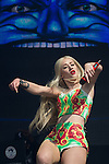 © Joel Goodman - 07973 332324 . 09/06/2013 . Heaton Park , Manchester , UK . Iggy Azalea (aka Amethyst Amelia Kelly ) on the main stage . Day 2 of the Parklife music festival in Manchester on Sunday 9th June 2013 . Photo credit : Joel Goodman