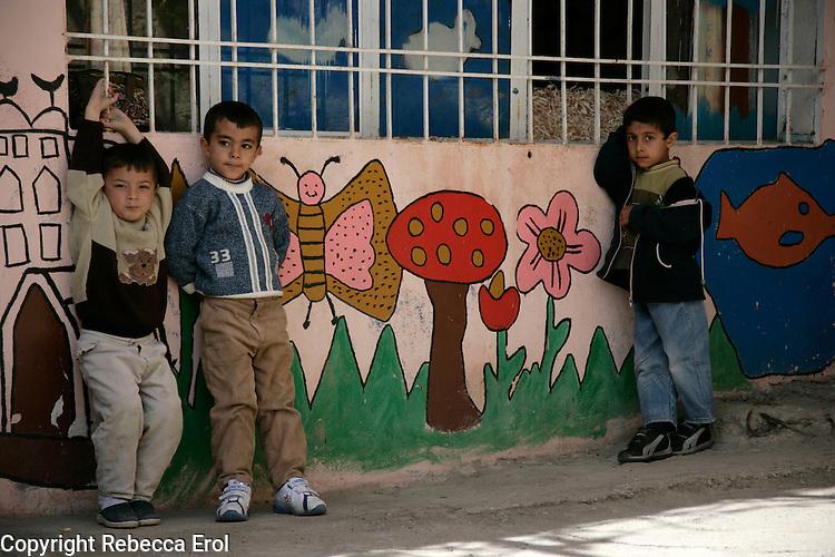 Children in a nursery in Mardin, southeastern Turkey
