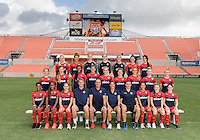 Houston, TX - Thursday Oct. 06, 2016: Washington Spirit team photo during media day prior to the National Women's Soccer League (NWSL) Championship match between the Washington Spirit and the Western New York Flash at BBVA Compass Stadium.