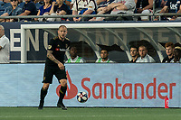 FOXBOROUGH, MA - AUGUST 3: Jordan Harvey #2 of Los Angeles FC looks to pass during a game between Los Angeles FC and New England Revolution at Gillette Stadium on August 3, 2019 in Foxborough, Massachusetts.