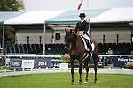 Alex Postolowsky [GBR] riding Islanmore Ginger during the Dressage phase of the 2014 Land Rover Burghley Horse Trials held at Burghley House, Stamford, Lincolnshire