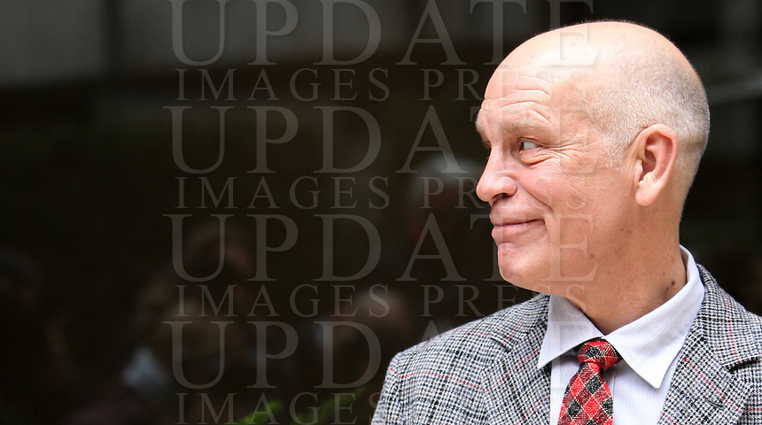 "L'attore statunitense John Malkovich, posa durante il photocall del film ""Educazione Siberiana"" a Roma, 22 febbraio 2013..U.S. actor John Malkovich poses during the photocall of the movie ""Educazione Siberiana"" (""Siberian Education"") in Rome, 22 February 2013..UPDATE IMAGES PRESS/Isabella Bonotto."