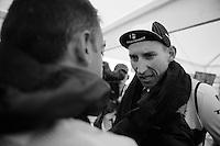 Bauke Mollema (NLD/Trek Factory Racing) post-race<br /> <br /> stage 12: Lannemezan - Plateau de Beille (195km)<br /> 2015 Tour de France