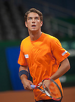 15-9-09, Netherlands,  Maastricht, Tennis, Daviscup Netherlands-France, Training, Jesse Huta Galung