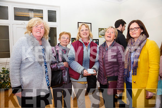 Pictured in the Valentia Cable station during the Presidents visit on Saturday were l-r Mary Gallagher, Mary Cahill, Mairead Loughman, Mary Casey & Aoife Lyne.
