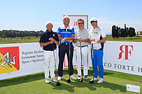 Team Howell during the Pro-Am ahead of the Rocco Forte Sicilian Open played at Verdura Resort, Agrigento, Sicily, Italy 09/05/2018.<br /> Picture: Golffile | Phil Inglis<br /> <br /> <br /> All photo usage must carry mandatory copyright credit (&copy; Golffile | Phil Inglis)