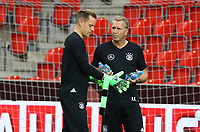 Torwarttrainer Andreas Koepke (Deutschland Germany) mit Marc-Andre ter Stegen (Deutschland Germany) - 31.08.2017: Abschlusstraining Deutschland in Prag, Marriott Hotel
