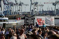 "GERMANY, Hamburg, protest rally ""WELCOME TO HELL"" against G-20 summit in july 2017 / DEUTSCHLAND, Hamburg, Fischmarkt, Protest Demo WELCOME TO HELL gegen G20 Gipfel in Hamburg"