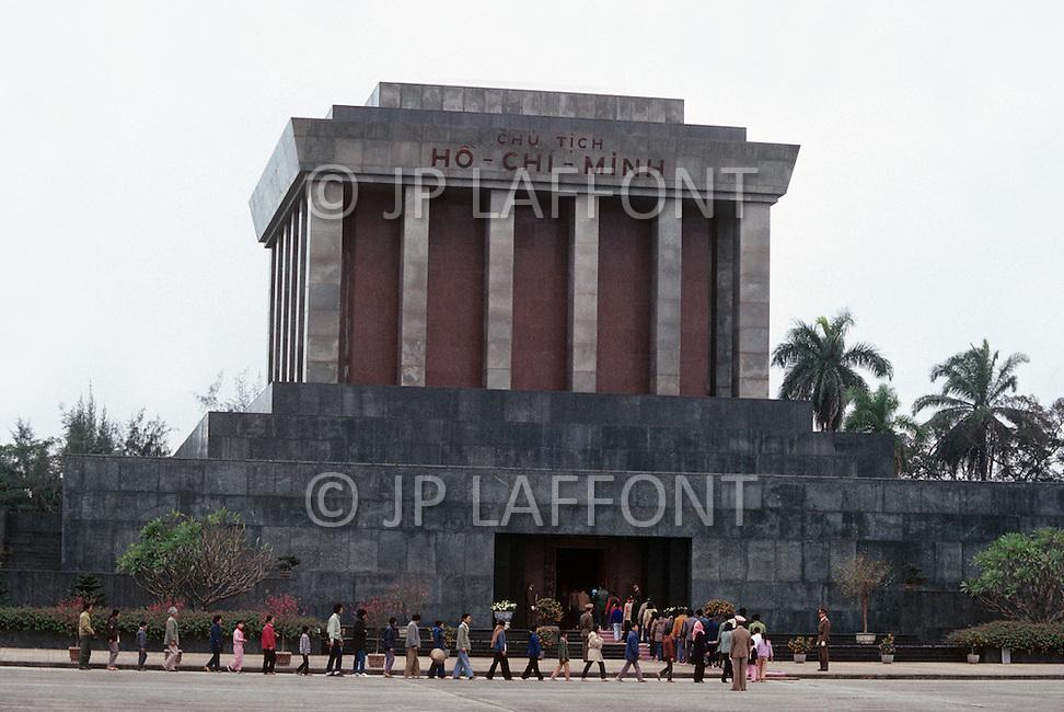 Hanoi, February 1988. Ho Chi Minh Mausoleum.