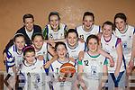 The Killorglin team that played Killarney Cougars in the u12 league at Killarney parish hall on Friday night front row l-r: Connie King, Muireann Arthurs, Eimear Mahony. Back row: Ciara Diggin, Lorraine Wall, Michaela O'Connor, Leah Moriarty, Rebecca Murray, Ciara O'Sullivan, Zara Ashe and Orla O'Mahony