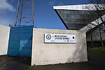 An exterior view of the Commonwealth Stadium at Meadowbank before the Scottish Lowland League match between Edinburgh City and city rivals Spartans, which was won by the hosts by 2-0. Edinburgh City were the 2014-15 league champions and progressed to a play-off to decide whether there would be a club promoted to the Scottish League for the first time in its history. The Commonwealth Stadium hosted Scottish League matches between 1974-95 when Meadowbank Thistle played there.