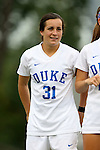 30 August 2015: Duke's Christina Gibbons. The Duke University Blue Devils hosted the William & Mary University Tribe at Koskinen Stadium in Durham, NC in a 2015 NCAA Division I Women's Soccer game. Duke won the game 2-0.