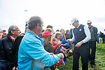 Scotsman Stephen Gallacher signs autographs as he makes his way to the 8th tee during a practice session at Gleneagles Golf Course, Perthshire. Photo credit should read: Kenny Smith/Press Association Images.during a practice session at Gleneagles Golf Course, Perthshire. Photo credit should read: Kenny Smith/Press Association Images.