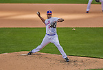 20 April 2013: New York Mets pitcher LaTroy Hawkins on the mound against the Washington Nationals at Citi Field in Flushing, NY. The Mets fell to the visiting Nationals 7-6, tying their 3-game weekend series at one a piece. Mandatory Credit: Ed Wolfstein Photo *** RAW (NEF) Image File Available ***