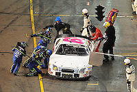 Apr 11, 2008; Avondale, AZ, USA; NASCAR Nationwide Series driver Kevin Lepage pits during the Bashas Supermarkets 200 at the Phoenix International Raceway. Mandatory Credit: Mark J. Rebilas-