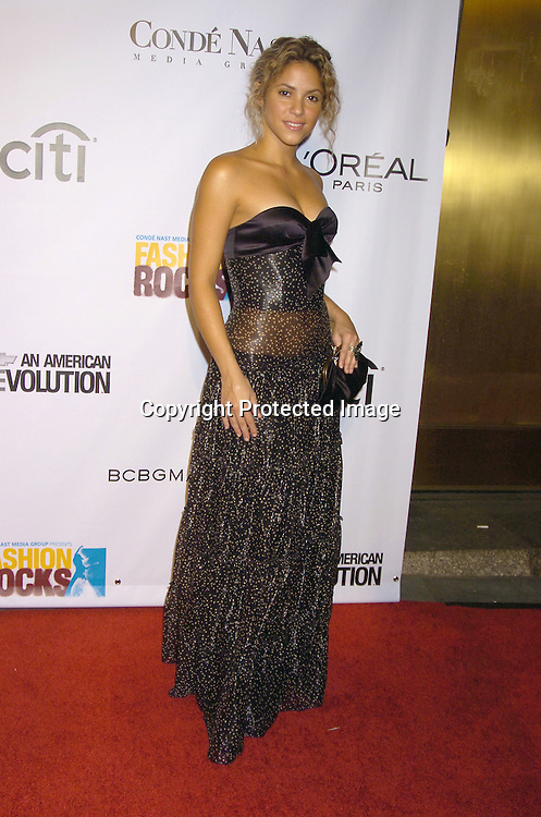 Shakira ..at the Conde Nast Media Group Fashion Rocks second annual live concert on September 8, 2005 at Radio City Music Hall. ..Photo by Robin Platzer, Twin Images