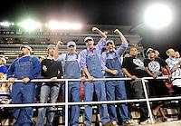 Oct. 8, 2009; Las Vegas, NV, USA; Las Vegas Locomotives fans cheer during the game against the California Redwoods during the inaugural United Football League game at Sam Boyd Stadium. Las Vegas defeated California 30-17. Mandatory Credit: Mark J. Rebilas-