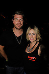 Jeff Branson poses with Jamie (they just had a baby) at 15th Southwest Florida Soapfest 2014 Charity Weekend with a Bartending/Karaoke get together on May 26, 2104 at Porky's, Marco Island, Florida. (Photo by Sue Coflin/Max Photos)