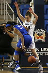 Nevada's Lea Favre defends against Air Force's Dee Bennett during a women's basketball game in Reno, Nev., on Saturday, Jan. 9, 2016. Nevada won 68-57.<br /> Photo by Cathleen Allison