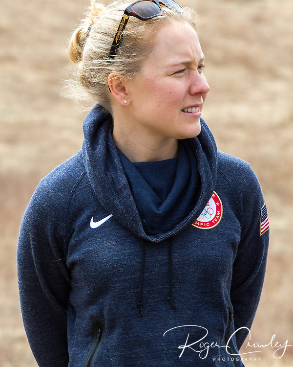EAST MONTPELIER - USA Vermont Olympians speak at Morse Farm about the influence of climate change on winter sports they have experienced world wide and make suggestions on attacking the problem. Ida Sargent.