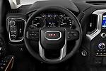 Car pictures of steering wheel view of a 2020 GMC Sierra-2500-HD SLT 4 Door Pick-up Steering Wheel