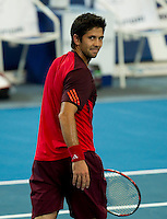 FERNANDO VERDASCO (ESP) against WU DI (CHN) in the group stage of the Hopman Cup. Spain beat China 6-3 6-4 ..03/01/2012, 3rd January 2012, 03.01.2012..The HOPMAN CUP, Burswood Dome, Perth, Western Australia, Australia.@AMN IMAGES, Frey, Advantage Media Network, 30, Cleveland Street, London, W1T 4JD .Tel - +44 208 947 0100..email - mfrey@advantagemedianet.com..www.amnimages.photoshelter.com.