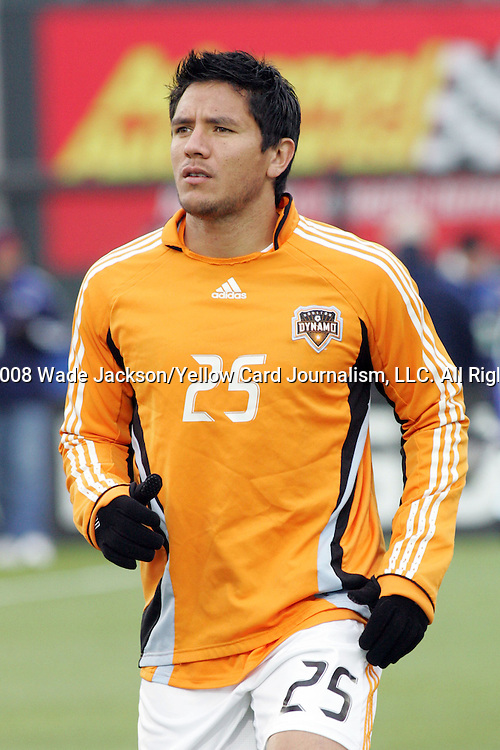 April 12 2008:   Brian Ching (25) of the Dynamo.  The MLS Kansas City Wizards tied the visiting Houston Dynamo 0-0 at Community America Ballpark in Kansas City, Kansas, in a regular season league soccer match.